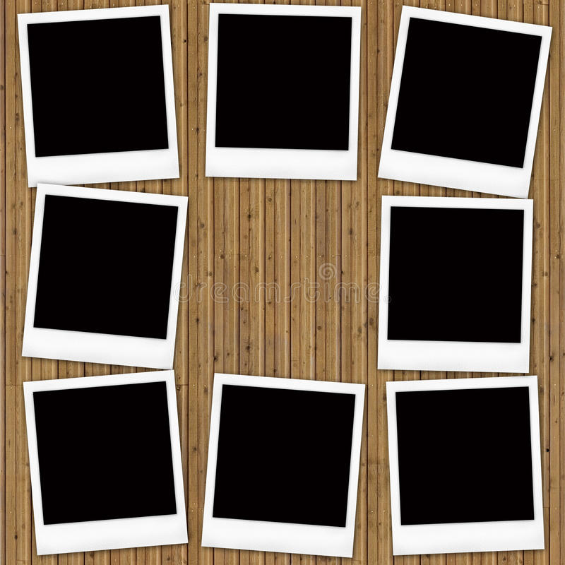 Download Blank instant photo frames stock illustration. Image of message - 23753442