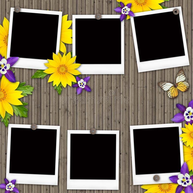 Blank instant photo frames royalty free illustration