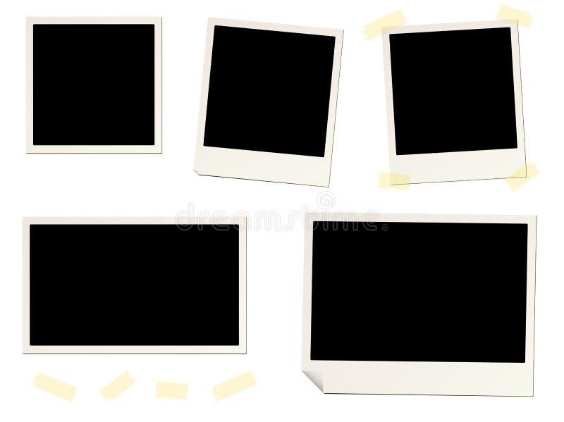 Blank Instant Photo Frames And Sticky Tape Stock Illustration ...