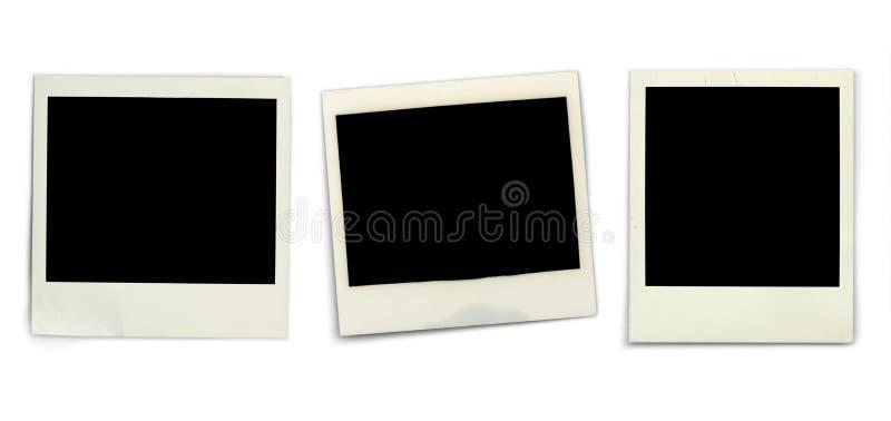 Blank Instant Photos Stock Photo