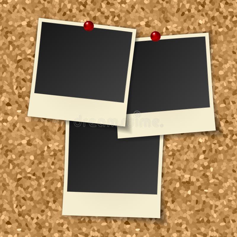 Blank instant photos stock illustration