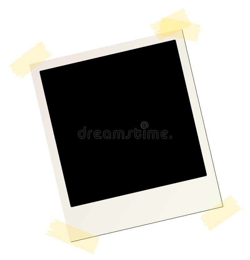 Blank instant picture frame vector illustration