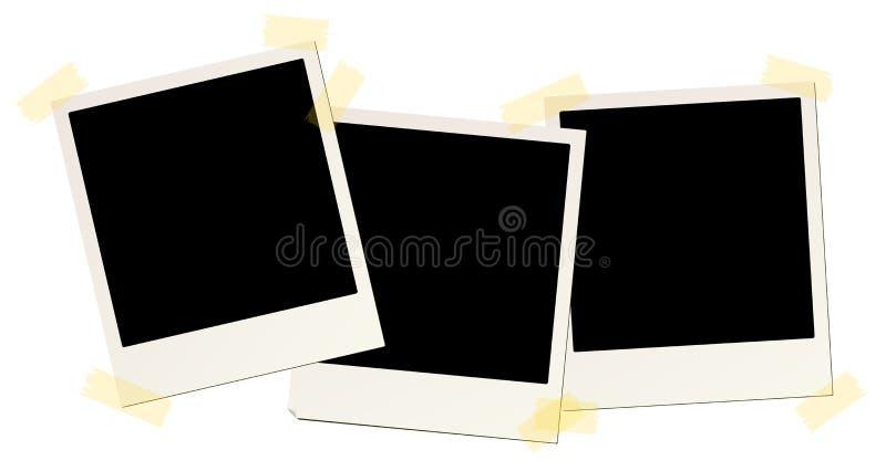 3 blank instant picture frames vector illustration