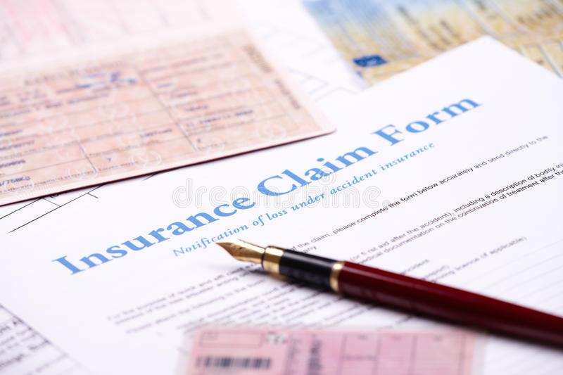 Download Blank insurance claim form stock photo. Image of accident - 24314900