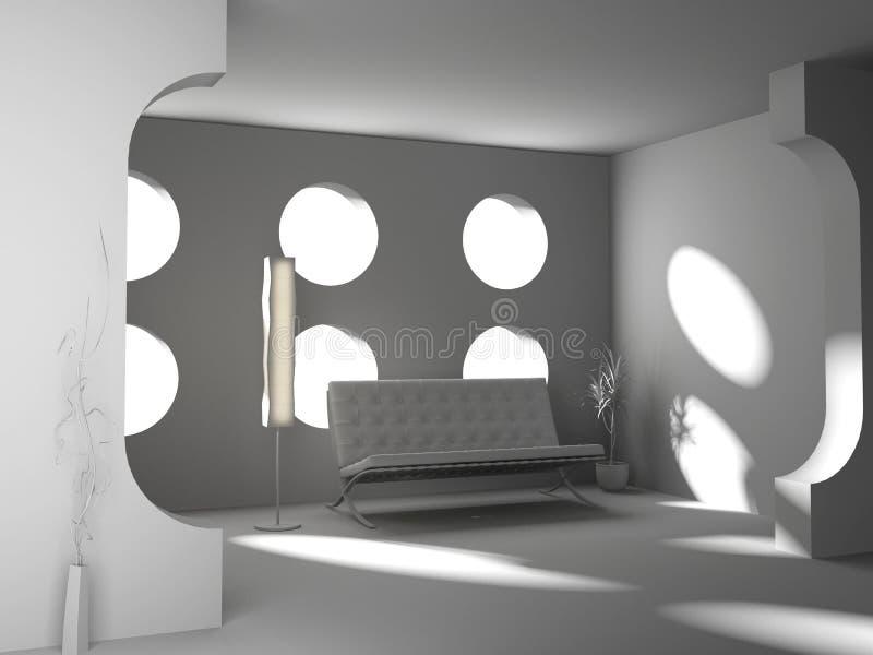 blank interior stock illustrationer