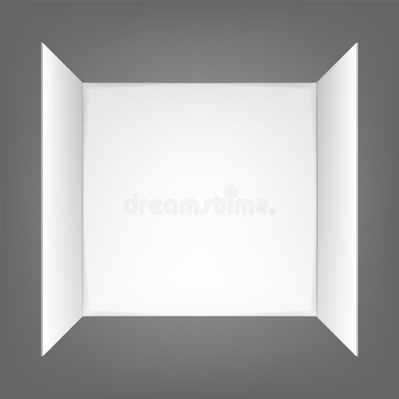 Blank invitation greetings card isolated on grey background. Vector illustration. vector illustration