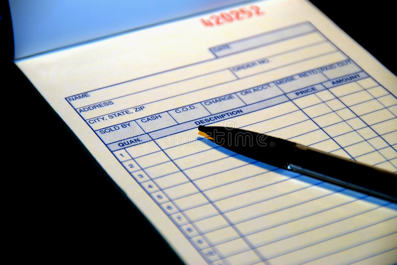 Blank Invoice stock images
