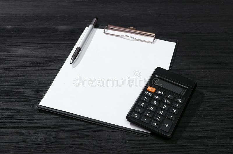 Blank invoice document. stock photos