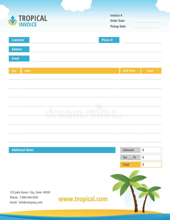 Blank Invoice from thumbs.dreamstime.com