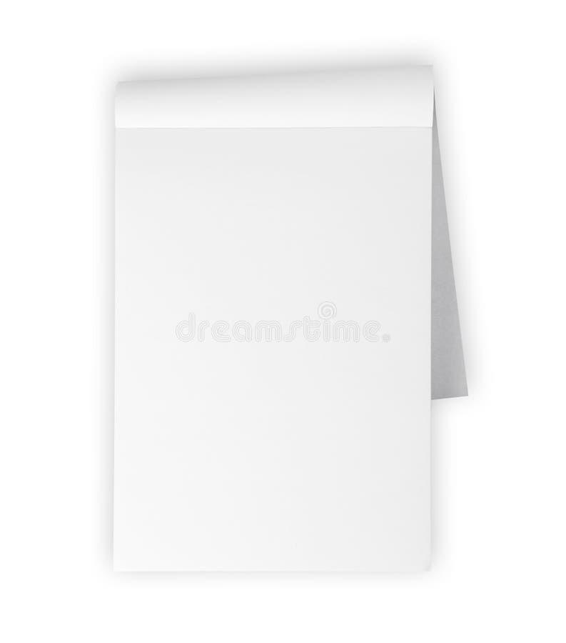 blank isolerad white för memoblocket royaltyfria bilder