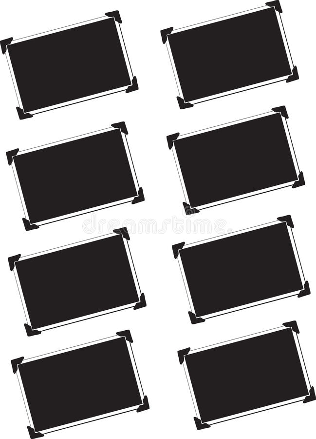 blank isolerade bilder vektor illustrationer
