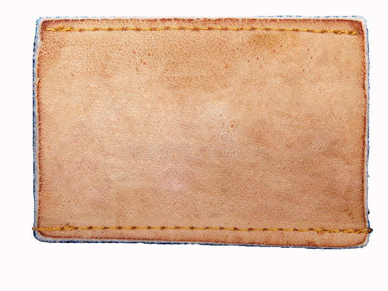 Download Blank Jeans Leather Label On Jean Fabric Stock Image - Image: 17134029