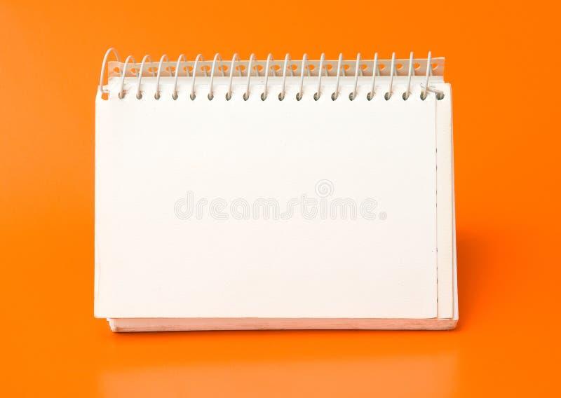 blank kalenderspiral arkivfoton