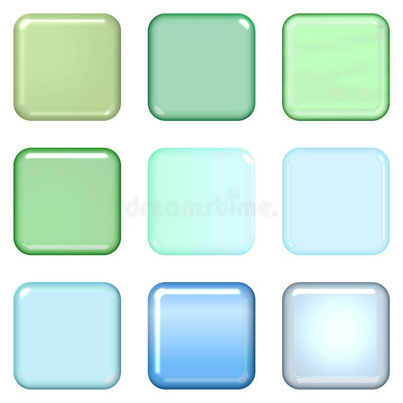 blank knapprengöringsduk stock illustrationer