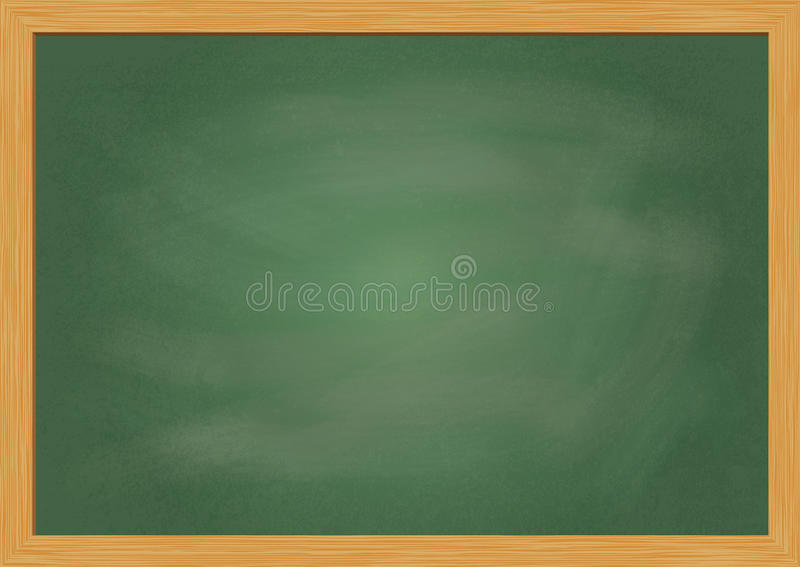Blank kritabrädeillustration stock illustrationer