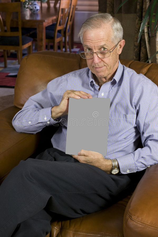 blank książek człowiek senior w obrazy royalty free