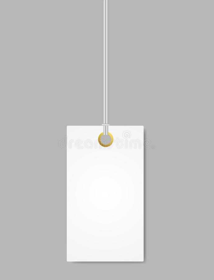 Blank Label Tag White. Vector Isolated vector illustration
