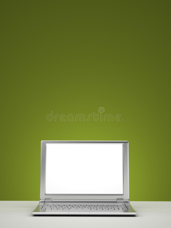 Blank laptop. Screen - clipping path included