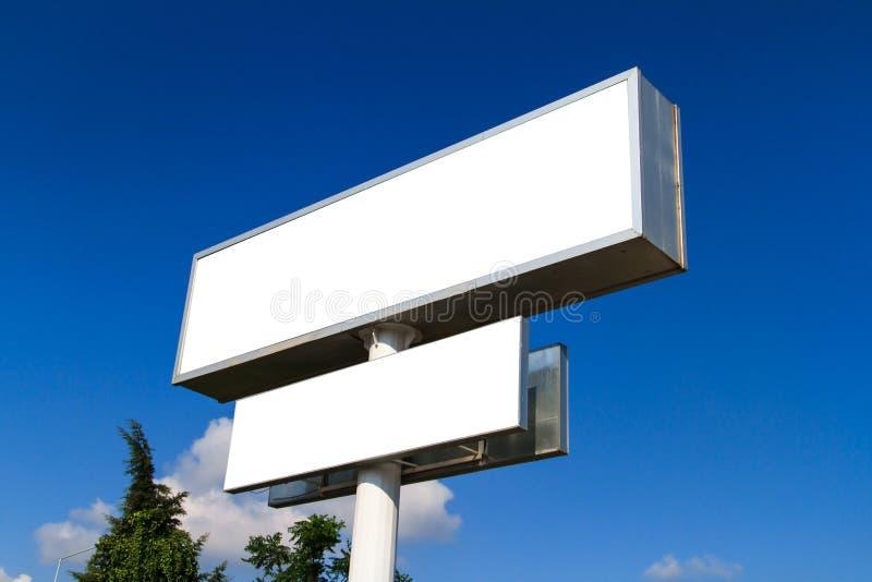 Blank Large Advertising Billboard Sign stock photos