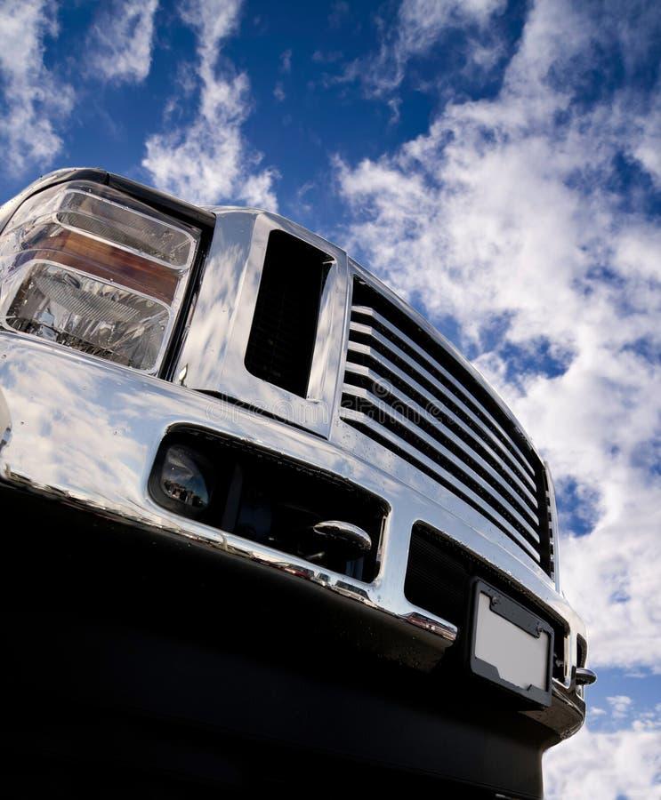 blank lastbil för stötdämpare arkivbild