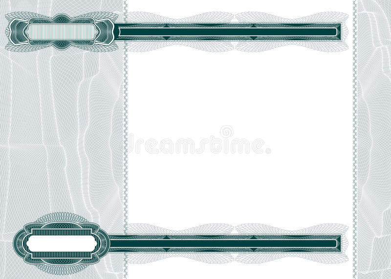 Blank Layout For Banknote Or Voucher Stock Photography