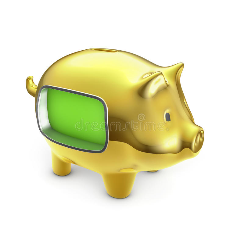 Download Blank LCD piggy bank stock illustration. Illustration of container - 29106934
