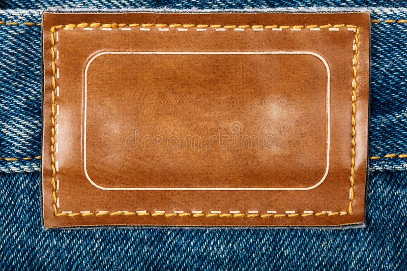 Download Blank leather jeans label stock image. Image of frame - 22716121