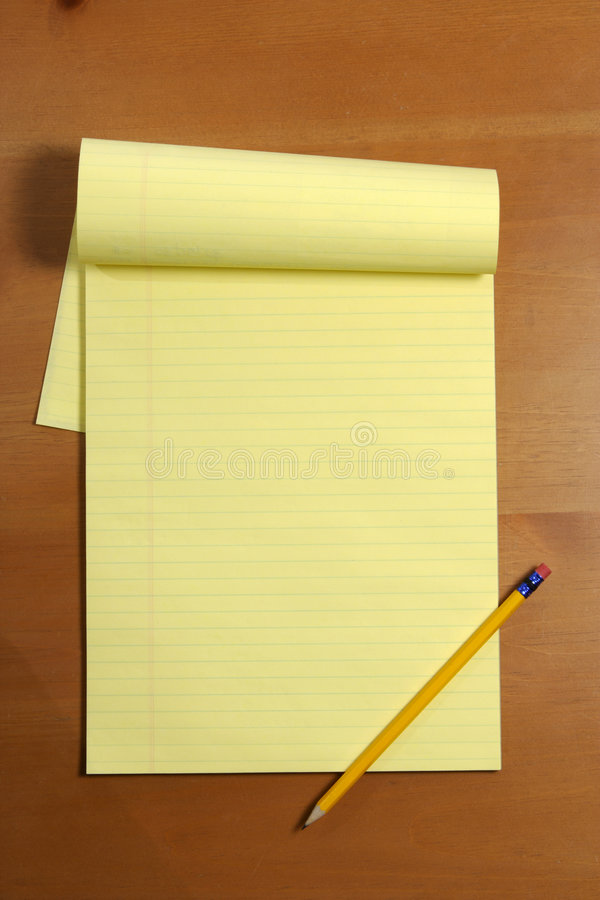 A blank legal pad stock photo