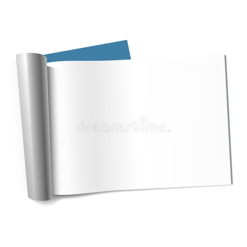blank liggandetidskriftsida royaltyfri illustrationer