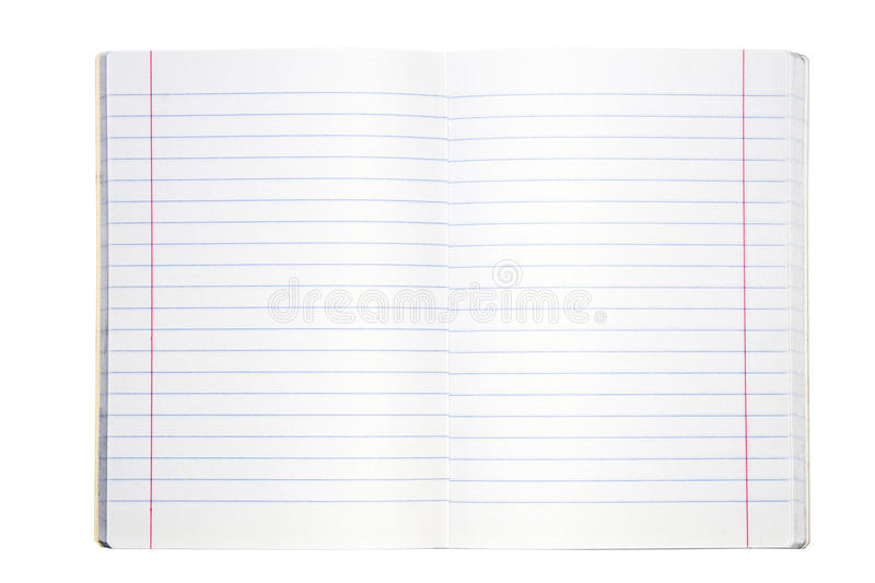 Download Blank lined exercise book stock photo. Image of paper - 13262686