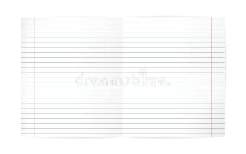 Blank Lined Notebook Sheet (with Diagonal Lines And Red