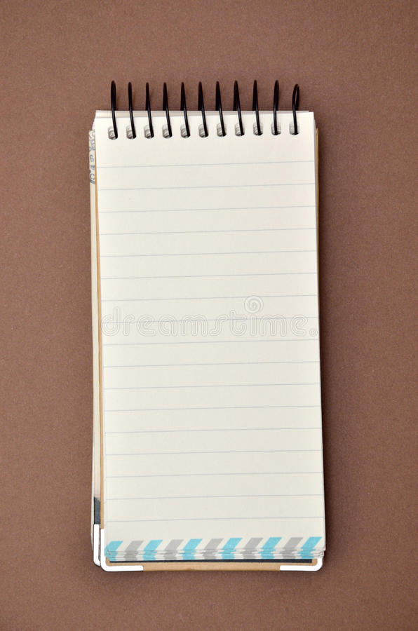 Blank lined notepad royalty free stock images