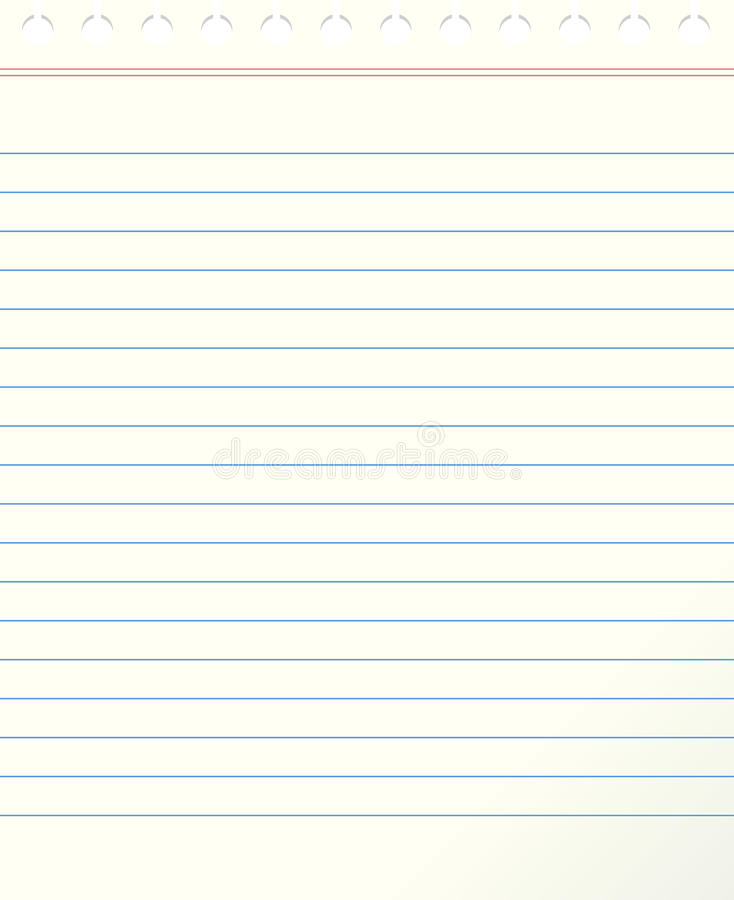 Download Blank Lined Paper Stock Vector. Image Of Blank, Letter   27361917  Blank Line Paper