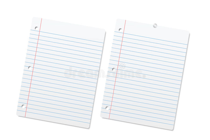 Blank Lined Paper Sheets Or Notepad Pages Royalty Free – Blank Line Paper