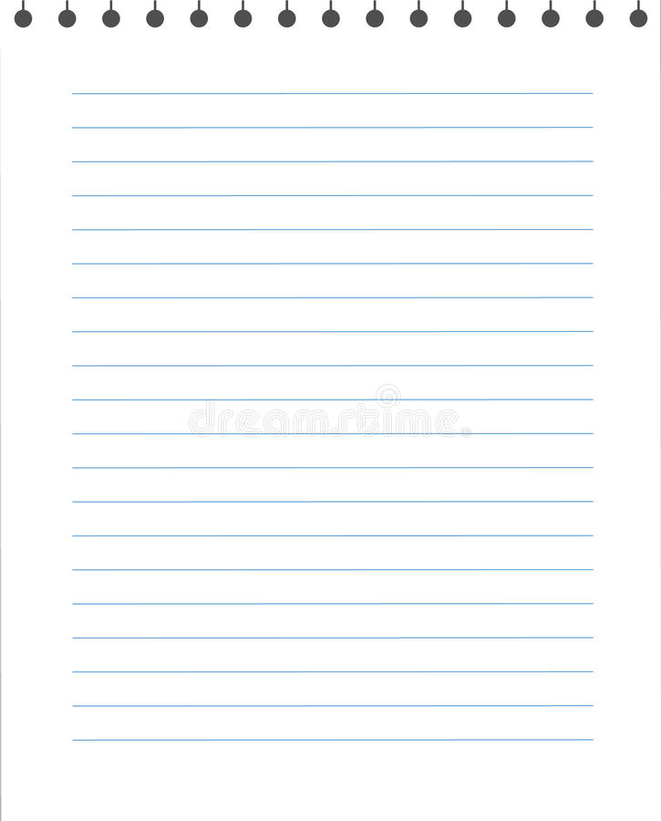 Blank Lined Paper Texture From A Notepad. Stock Vector ...