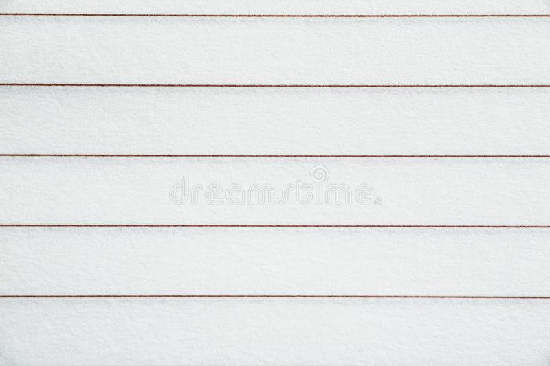 Blank lined sheet of paper texture, closeup.  stock image