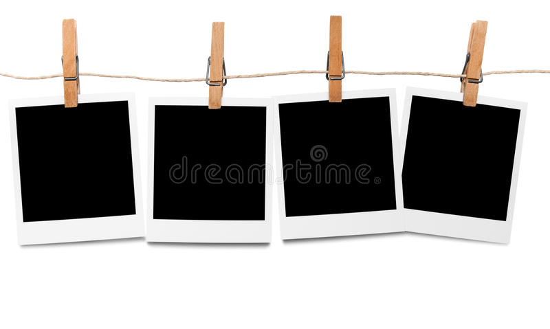 blank linje fotopolaroid arkivfoto