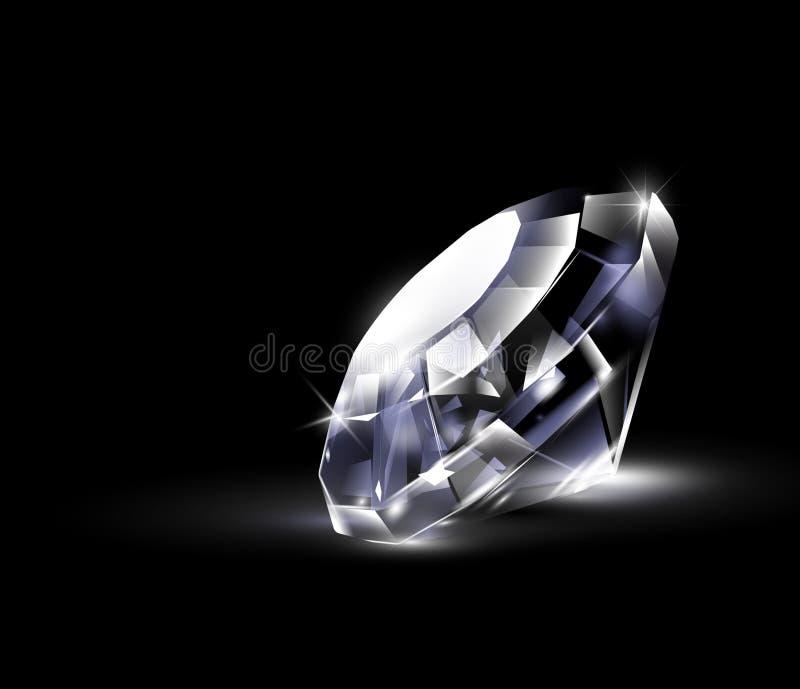 blank ljus diamant stock illustrationer