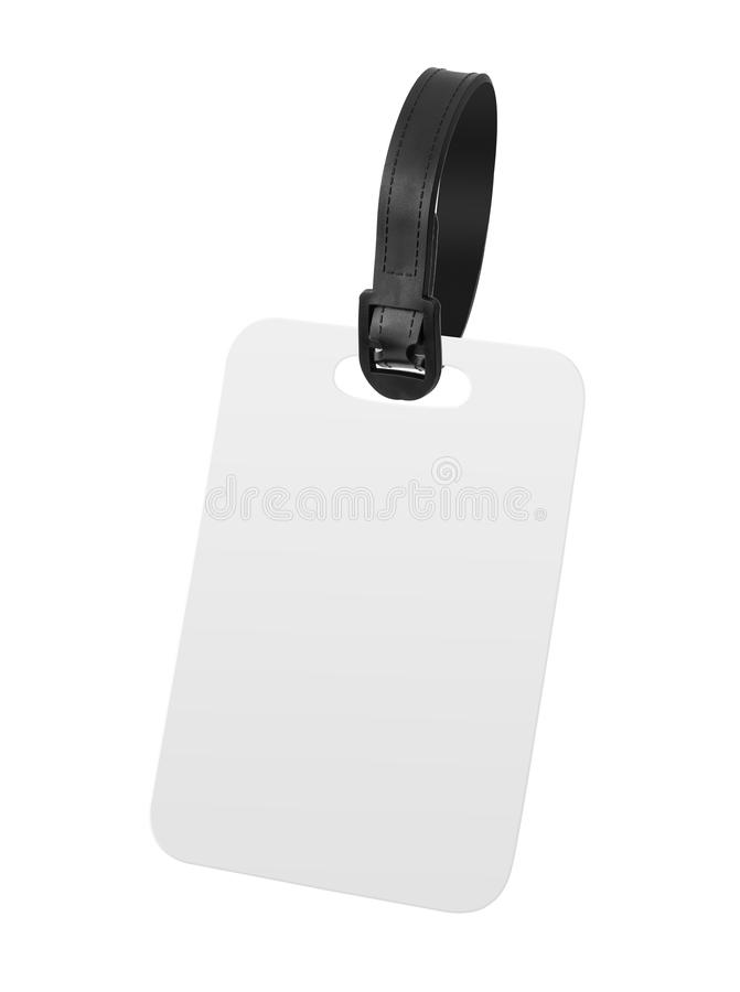 Blank luggage tag isolated on white background. Hanging tag or label for design. Clipping path vector illustration