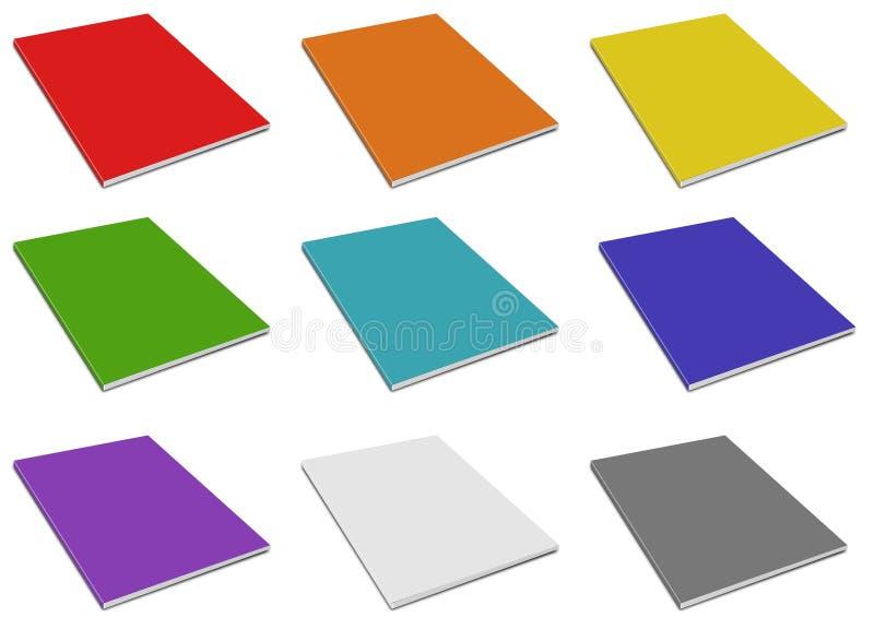 Blank magazine cover. Color magazine. On white background vector illustration