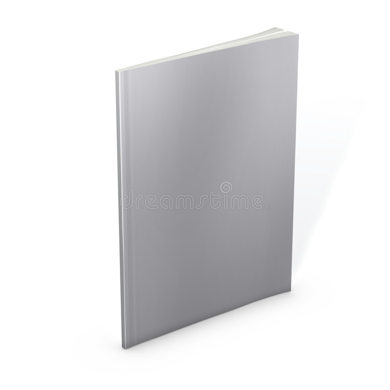 Free Blank Magazine On White Background. Clipping Path Royalty Free Stock Photos - 8603728
