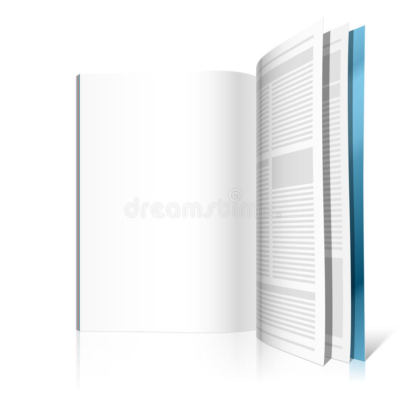 Download Blank magazine page stock vector. Image of illustration - 11451569