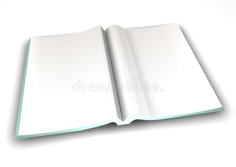 Download Blank Magazine Spread stock illustration. Image of internet - 12740427