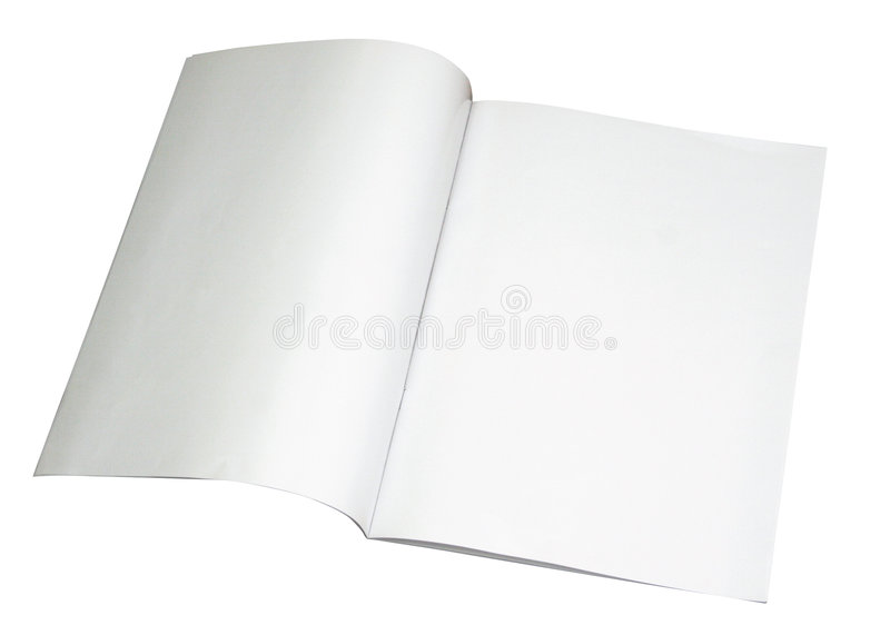 Blank magazine spread w/ path royalty free stock images