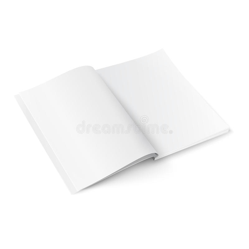 Blank magazine template with soft shadows. royalty free illustration