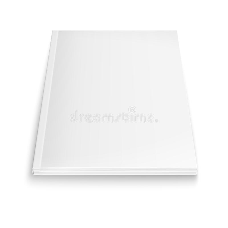 Blank magazine template with soft shadows. stock illustration
