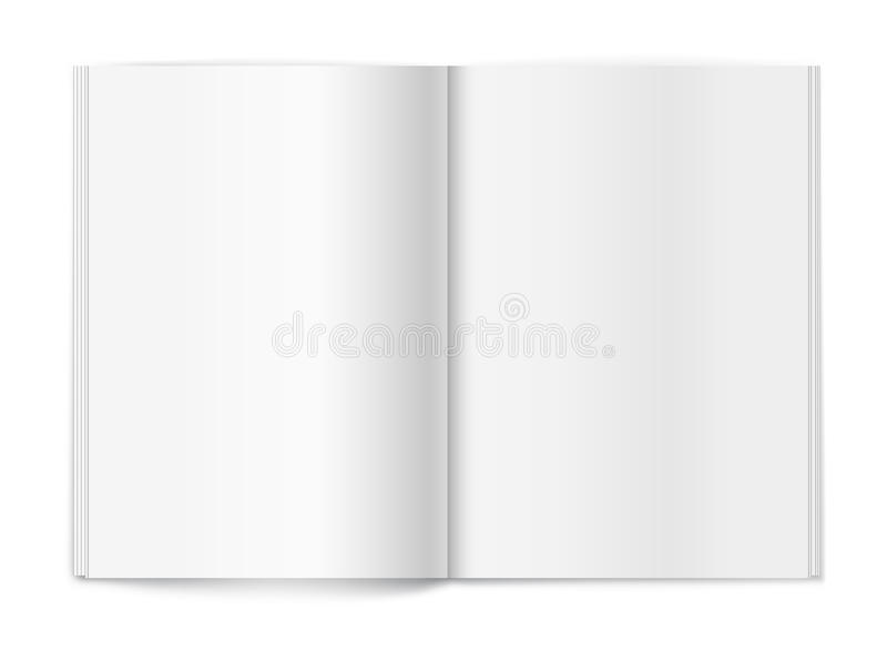 Download Blank Magazine On White Background. Template Stock Vector - Image: 26316670