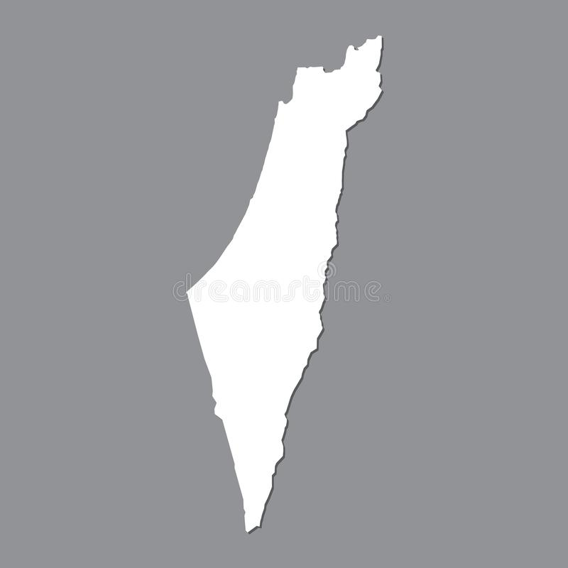 Blank map Israel. High quality map of Israel on gray background for your web site design, logo, app, UI. Stock vector. Vector illustration EPS10 stock illustration