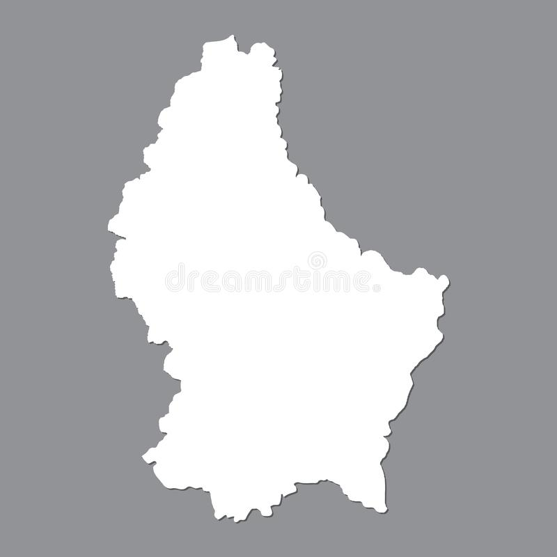 Blank map Luxembourg. High quality map of Luxembourg on gray background for your web site design, logo, app, UI. Stock vector. Vector illustration EPS10 vector illustration