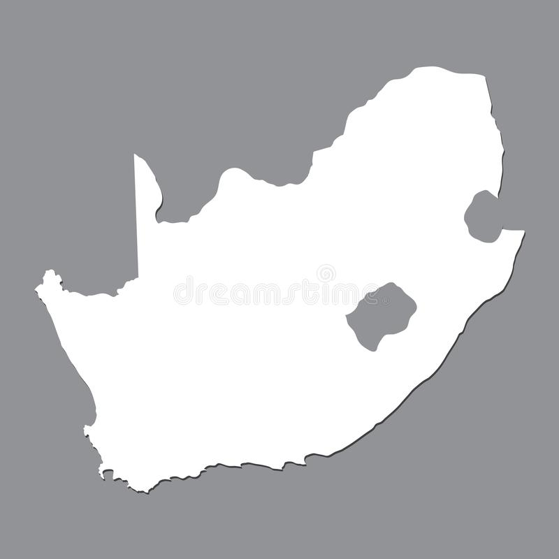 Blank map South Africa. High quality map of South Africa on gray background. vector illustration